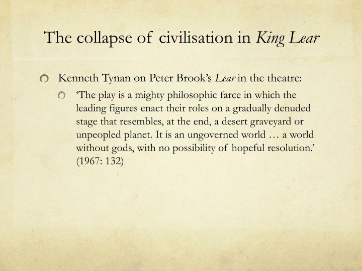 The collapse of civilisation in