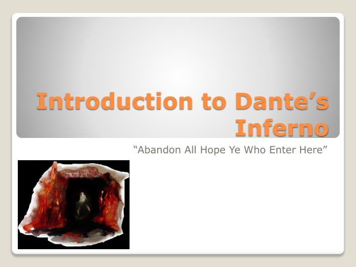 Introduction to dante s inferno