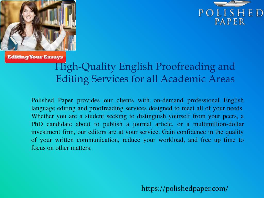 Proofreading services academic