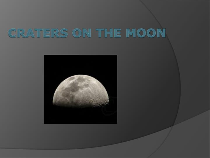 craters on the moon n.