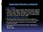 supporting theorists continued