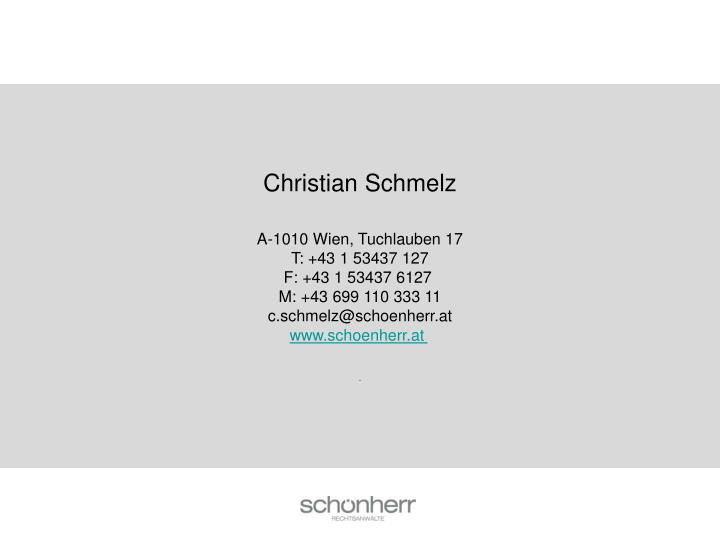 Christian Schmelz