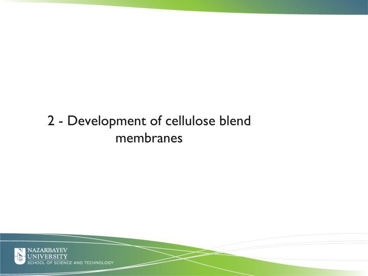 2 - Development of cellulose blend membranes