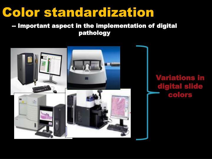 Color standardization