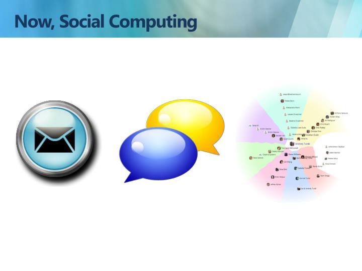 Now, Social Computing