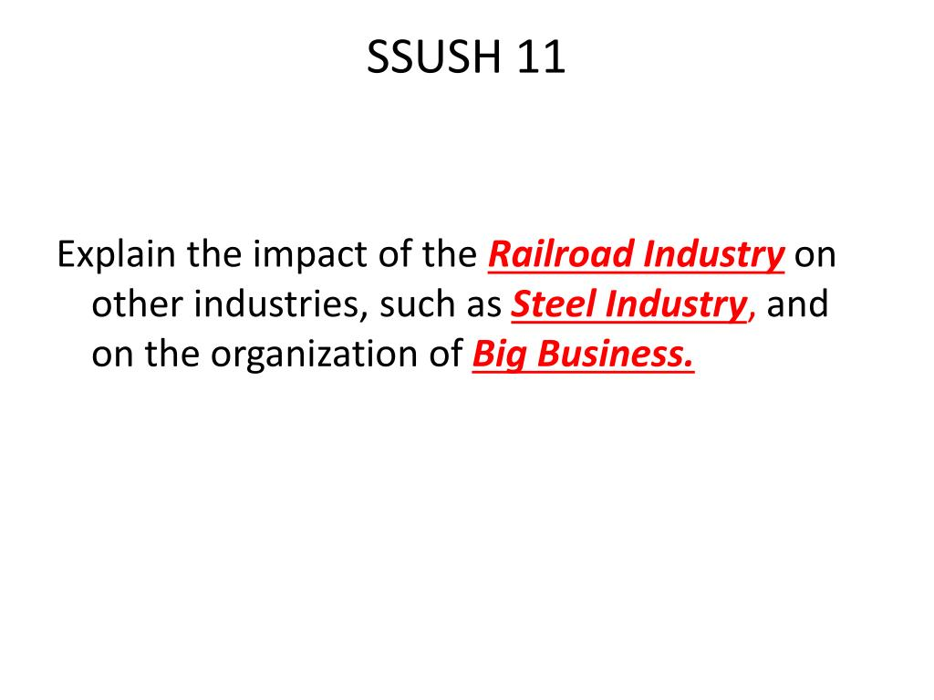Ssush11: Big Businessus History