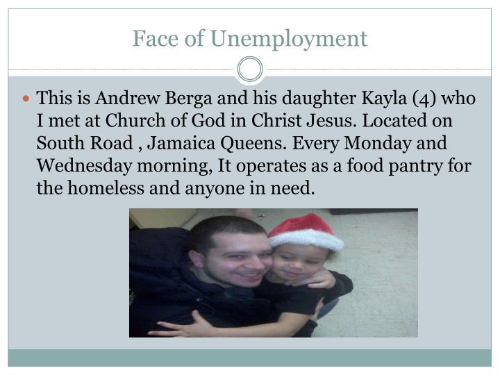 Face of Unemployment