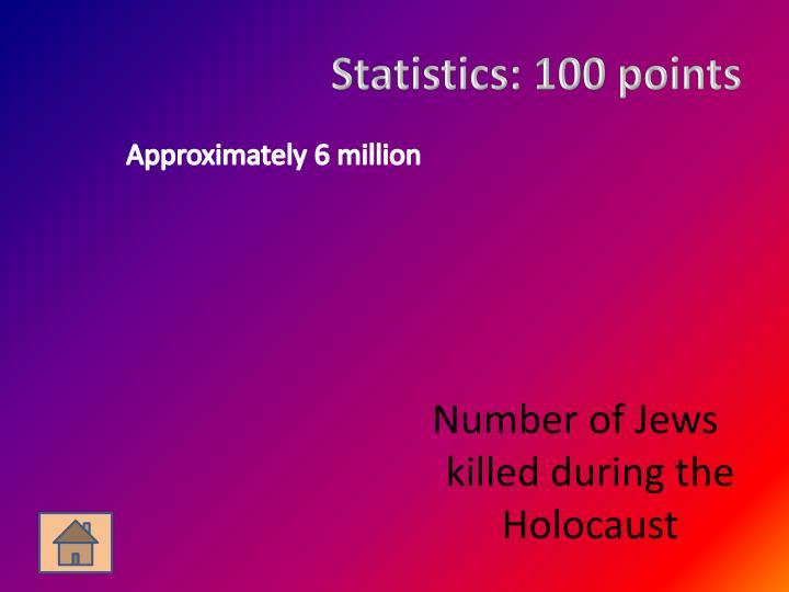 Statistics: 100 points
