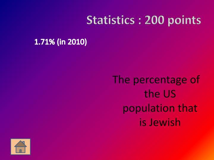 Statistics :