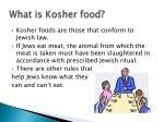 what is kosher food