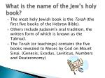what is the name of the jew s holy book