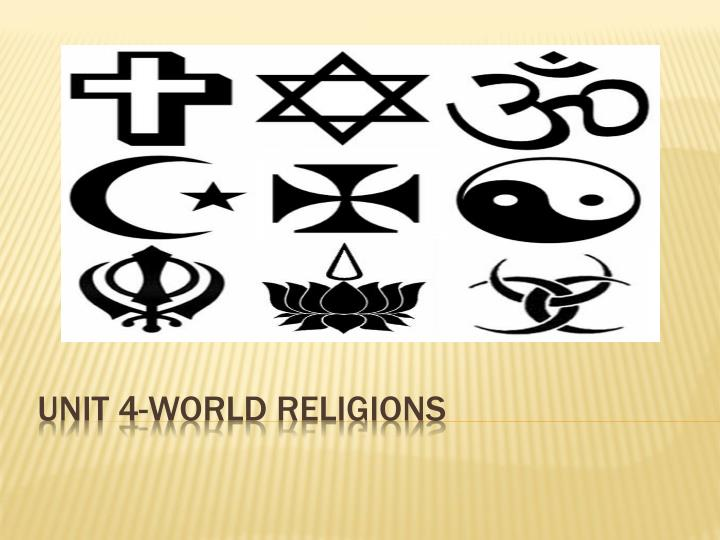 unit 4 world religions n.