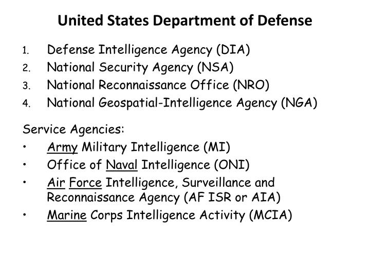 united states department of defense n.