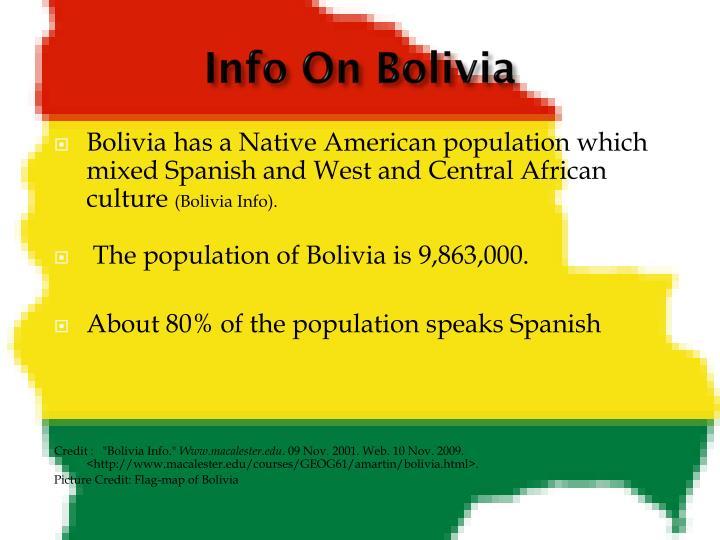 Info On Bolivia