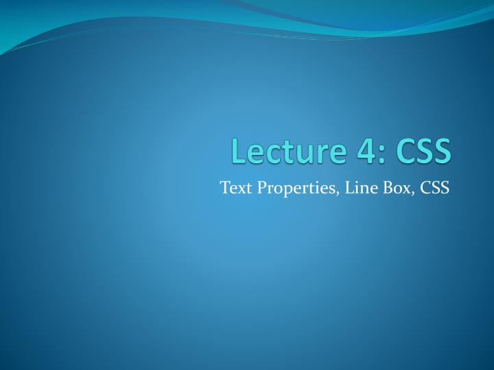 lecture 02 html and css basics Hypertext markup language ( html ) (211) describes the content and structure of information on a web page not the same as the presentation (appearance on screen.