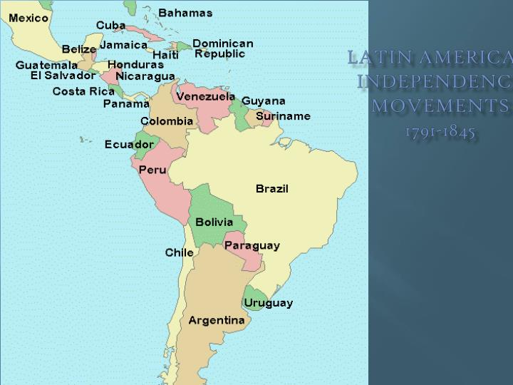 Ppt latin american independence movements 1791 1845 powerpoint latin american independence movements1791 1845 toneelgroepblik Gallery