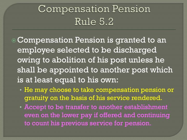 Compensation Pension
