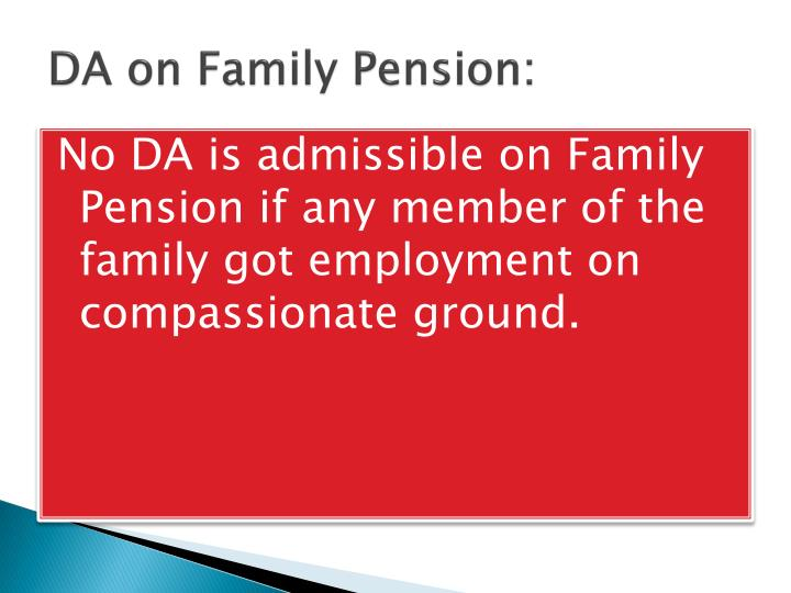 DA on Family Pension: