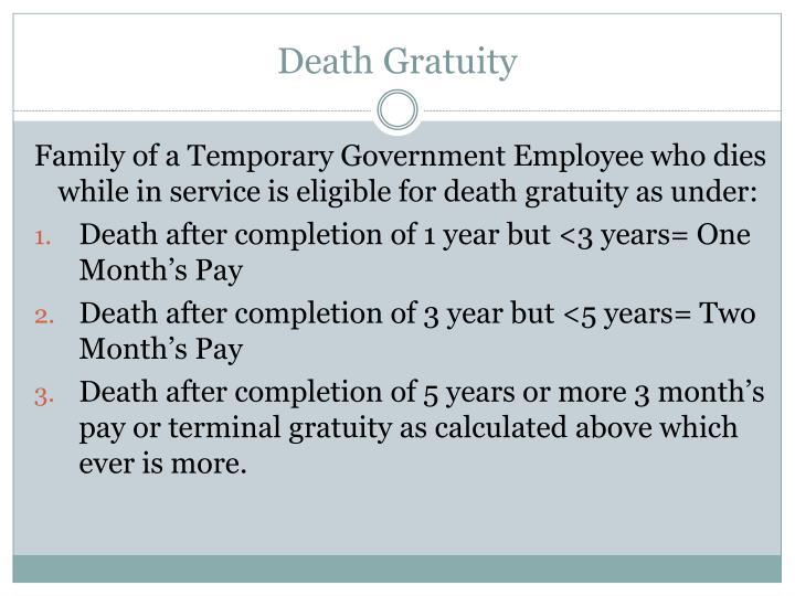 Death Gratuity