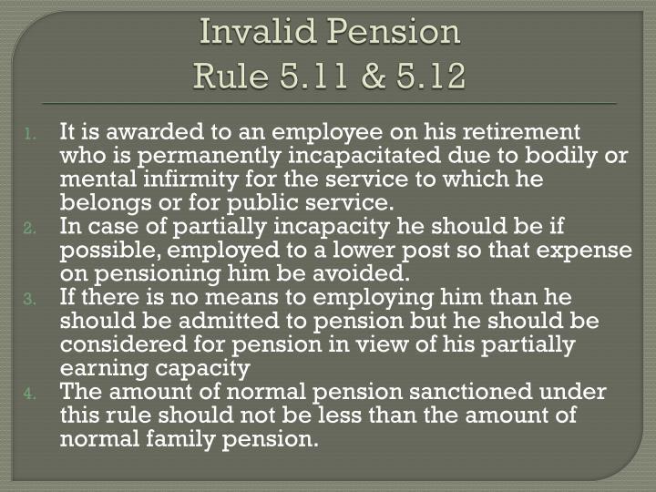 Invalid Pension