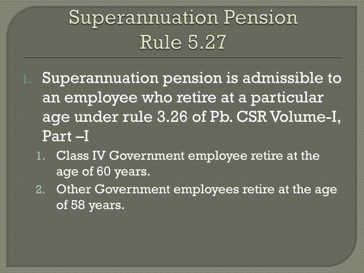 Superannuation Pension