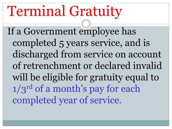 Terminal Gratuity