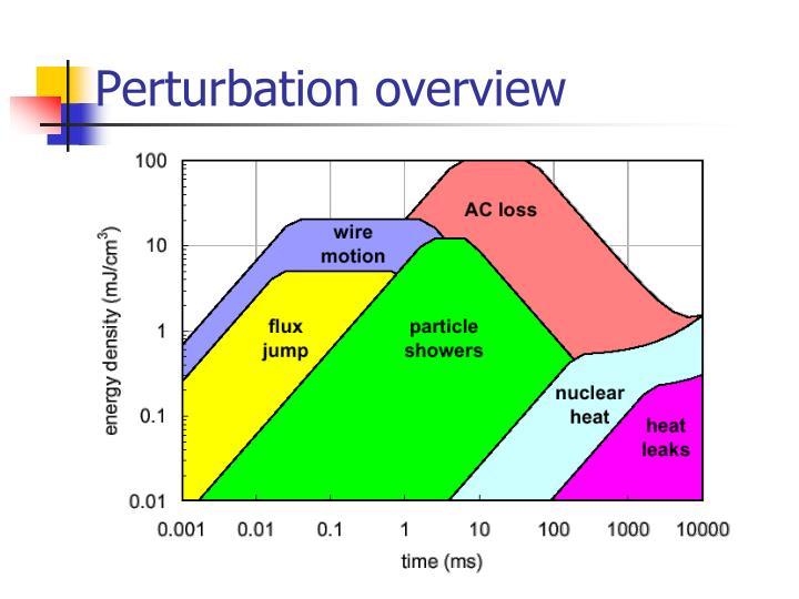 Perturbation overview