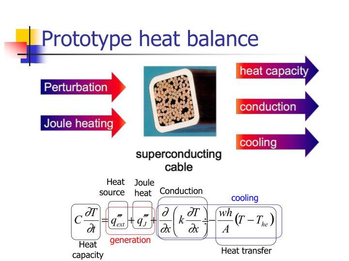 Prototype heat balance