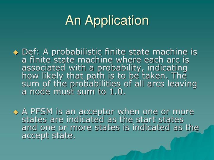 An Application