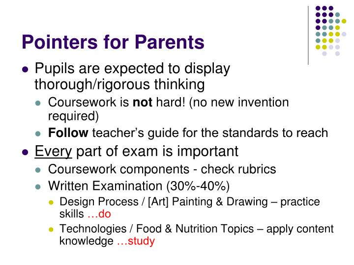 Pointers for Parents