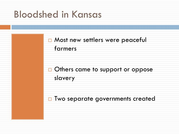Bloodshed in Kansas