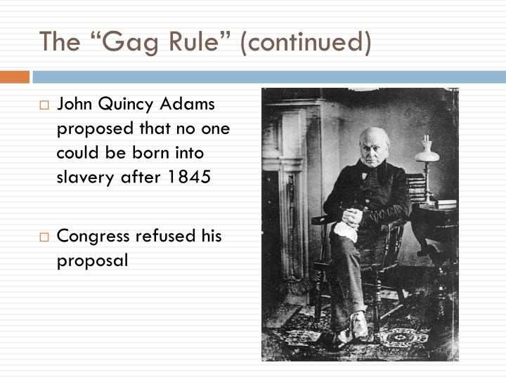 """The """"Gag Rule"""" (continued)"""