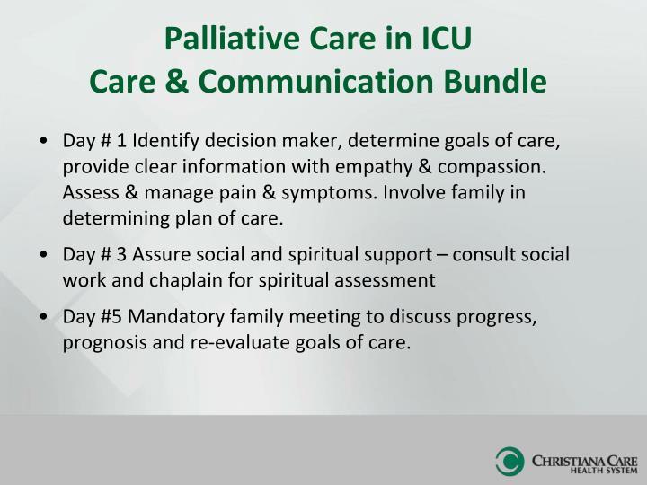 Ppt wilmington hospital icu christiana care health system palliative care in icu care communication bundle maxwellsz