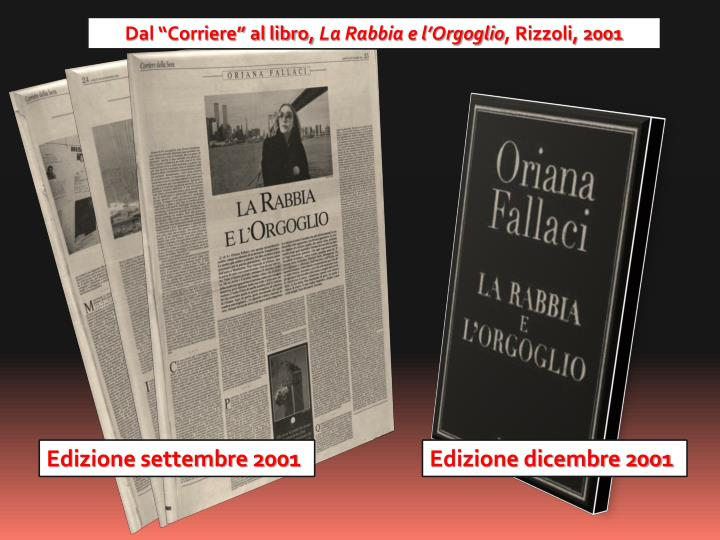 """Dal """"Corriere"""" al libro,"""