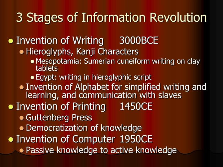3 stages of information revolution