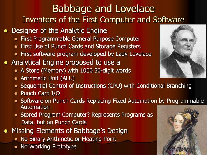 Babbage and Lovelace