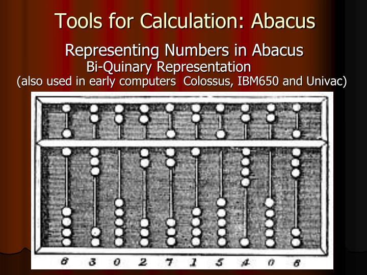 Tools for Calculation: Abacus