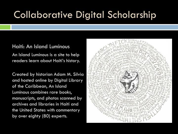 Collaborative Digital Scholarship