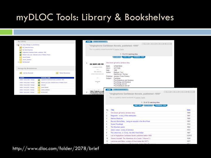 myDLOC Tools: