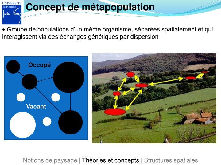 Concept de métapopulation