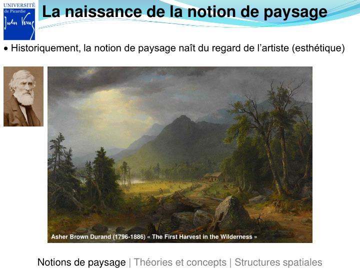 La naissance de la notion de paysage