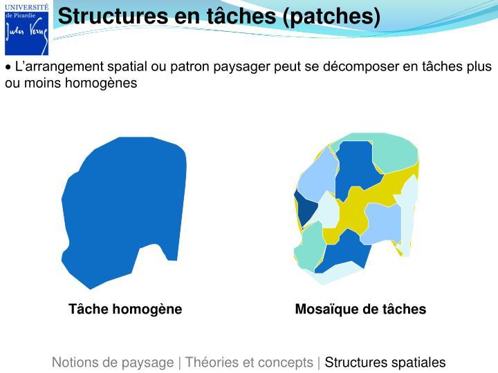 Structures en tâches (patches)