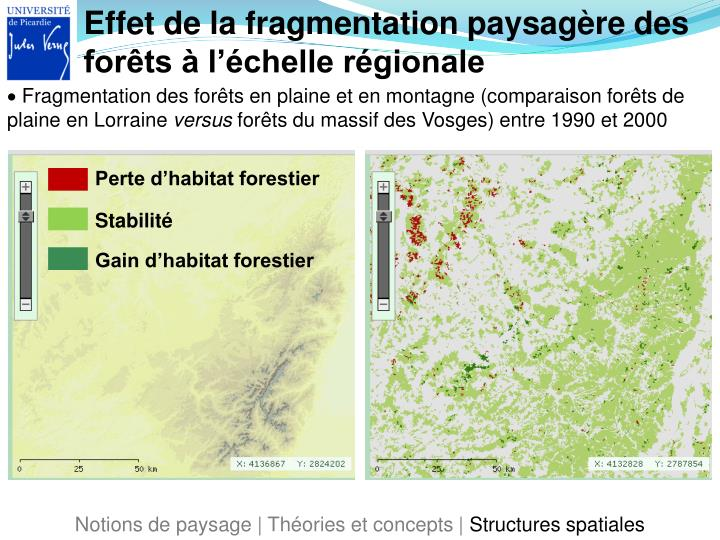 Effet de la fragmentation paysagère des forêts à l'échelle régionale