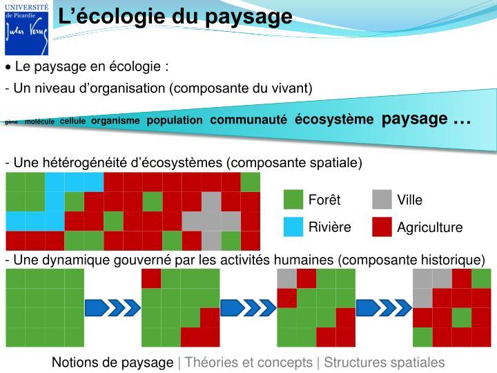 L'écologie du paysage