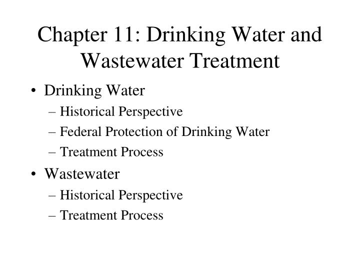 chapter 11 drinking water and wastewater treatment n.