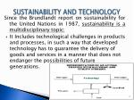 sustainability and technology