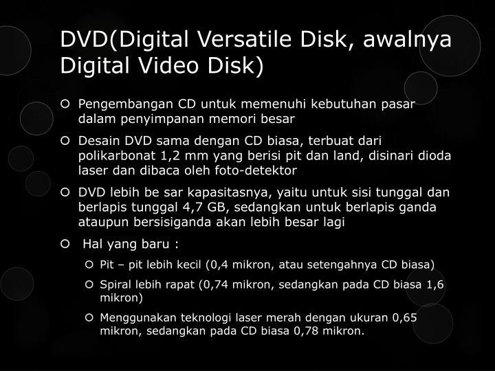DVD(Digital