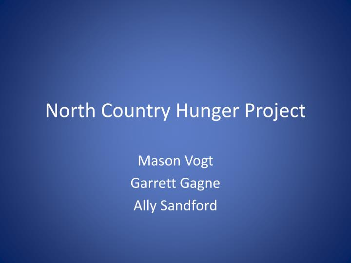 North country hunger project