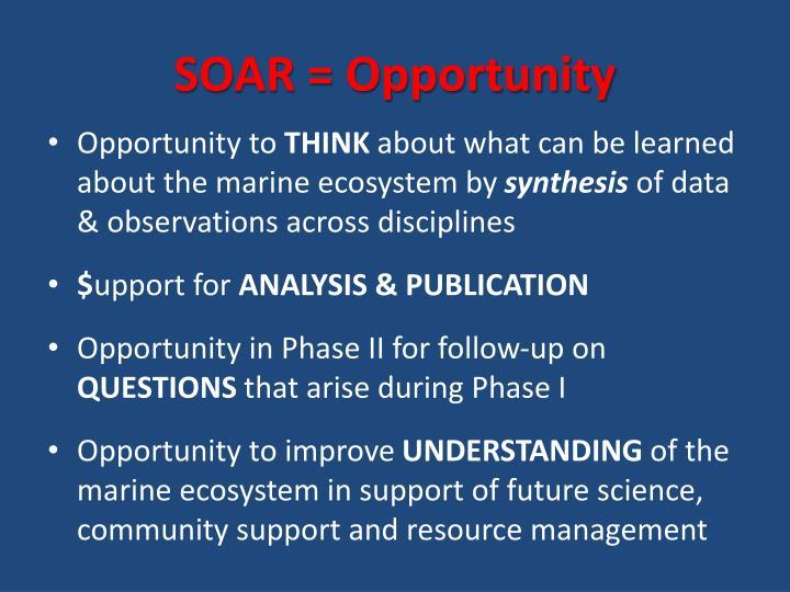 SOAR = Opportunity