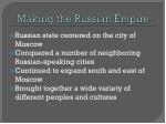 making the russian empire
